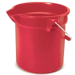 Rubbermaid Commercial 2963RED 10 Qt. Brute® Round Plastic Bucket Red