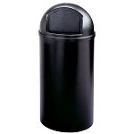 Rubbermaid Commercial 8170-88 BLA 25 Gallon Marshal® Classic Container Black