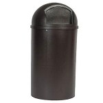 Rubbermaid Commercial 8170-88 BRO 25 Gallon Marshal® Classic Container Brown