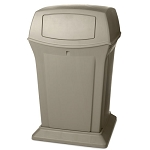Rubbermaid Commercial 9171-88 BEI 45 Gallon Ranger® Container w/ 2 Doors Beige