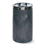 Rubbermaid Commercial 258500BLA Smoking Urn w/ Metal Ashtray Top Black/Chrome