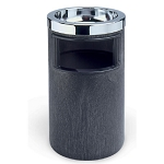 Rubbermaid Commercial 258600BLA Smoking Urn/Trash Receptacle Black/Chrome