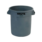 Rubbermaid Commercial 2610GRA 10 Gallon Brute® Round Container w/out Lid Gray