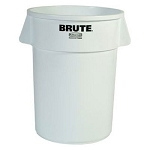 Rubbermaid Commercial 2620WHI 20 Gallon Brute® Round Container w/out Lid White
