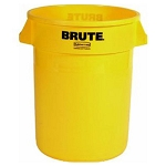 Rubbermaid Commercial 2632YEL 32 Gallon Brute® Round Containers w/out Lid Yellow