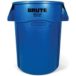 Rubbermaid Commercial 264360BE 44 Gallon Brute® Utility Container w/ Venting Channels Blue