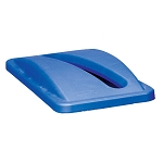Rubbermaid Commercial 270388BE Slim Jim® Paper Recycling Top For Slim Jim® Containers Blue
