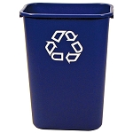 Rubbermaid Commercial 295773BE 41 Qt. Deskside Paper Recycling Containers Blue