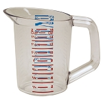 Rubbermaid Commercial 3215CLE Bouncer® Measuring Cups 1 Pint Capacity 6 Per Case Price Per Each