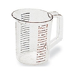 Rubbermaid Commercial 3216CLE Bouncer® Measuring Cups 1 Qt. Capacity 6 Per Case Price Per Each