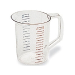 Rubbermaid Commercial 3217CLE Bouncer® Measuring Cups 2 Qt. Capacity 6 Per Case Price Per Each