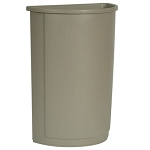 Rubbermaid Commercial 352000BG 21 Gallon Untouchable® Half Round Container w/out Lid Beige