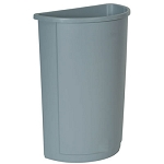 Rubbermaid Commercial 352000GY 21 Gallon Untouchable® Half Round Container w/out Lid Gray
