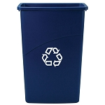 Rubbermaid Commercial 354075BE 23 Gallon Slim Jim® Recycling Container Blue