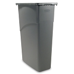 Rubbermaid Commercial 354000GY 23 Gallon Slim Jim® Rectangular Waste Container w/out Lid Gray
