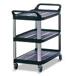 Rubbermaid Commercial 409100BLA Xtra™ Utility Cart w/ Open Sides Black
