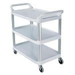 Rubbermaid Commercial 409100CM Xtra™ Utility Cart w/ Open Sides Cream
