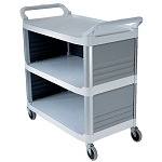 Rubbermaid Commercial 4093CRE Xtra™Utility Cart w/ Enclosed End Panels on 3 Sides Cream