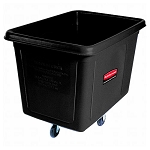 Rubbermaid Commercial 4608BLA 8 Cubic Ft Cube Truck Black
