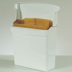 Rubbermaid Commercial 6140 WHI Sanitary Napkin Receptacle w/ Rigid Liner White