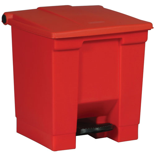 Rubbermaid Commercial 6143red 8 Gallon Step On Container Red