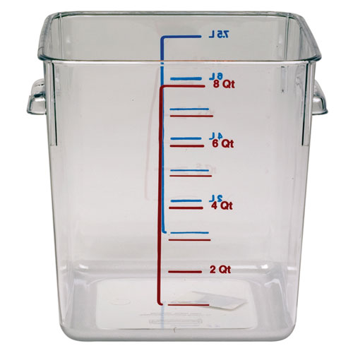 Industrial Food Container : Rubbermaid commercial cle qt space saving square