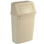 Rubbermaid Commercial 7822 BEI 15 Gallon Slim Jim® Wall-Mount Waste Container Beige