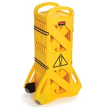 Rubbermaid Commercial 9S1100YEL Portable Mobile Safety Barrier