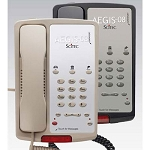 Scitec Aegis 08 Series 3-08 Analog Single Line Phone w/ 3 Guest Service Keys & Message Retrieval Lightbar Black or Ash 12 Per Case Price Per Each
