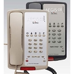 Scitec Aegis 08 Series 5-08 Analog Single Line Phone w/ 5 Guest Service Keys & Message Retrieval Lightbar Black or Ash 12 Per Case Price Per Each