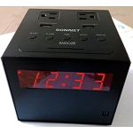 "Sonnet R-1415BT 0.9"" LED AM/FM Clock Radio w/ Blue Tooth Speaker & 2 USB Charging Ports Black 16 Per Case Price Per Each"
