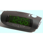 "Sonnet R-1693 1.2"" LED Display Alarm Clock AM/FM Radio w/ Aux in Cord Black 20 Per Case Price Per Each"