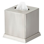 Steeltek® Pewter Veil Boutique Tissue Box Cover 12 Per Case Price Per Each