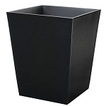 Steeltek® Spa Black 6 Qt. Wastebasket 6 Per Case Price Per Each