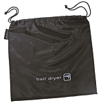 Sunbeam® Storage Bag For Handheld Hair Dryers w/ 2-Way Drawstring 12x12 Black 6 Per Case Price Per Each