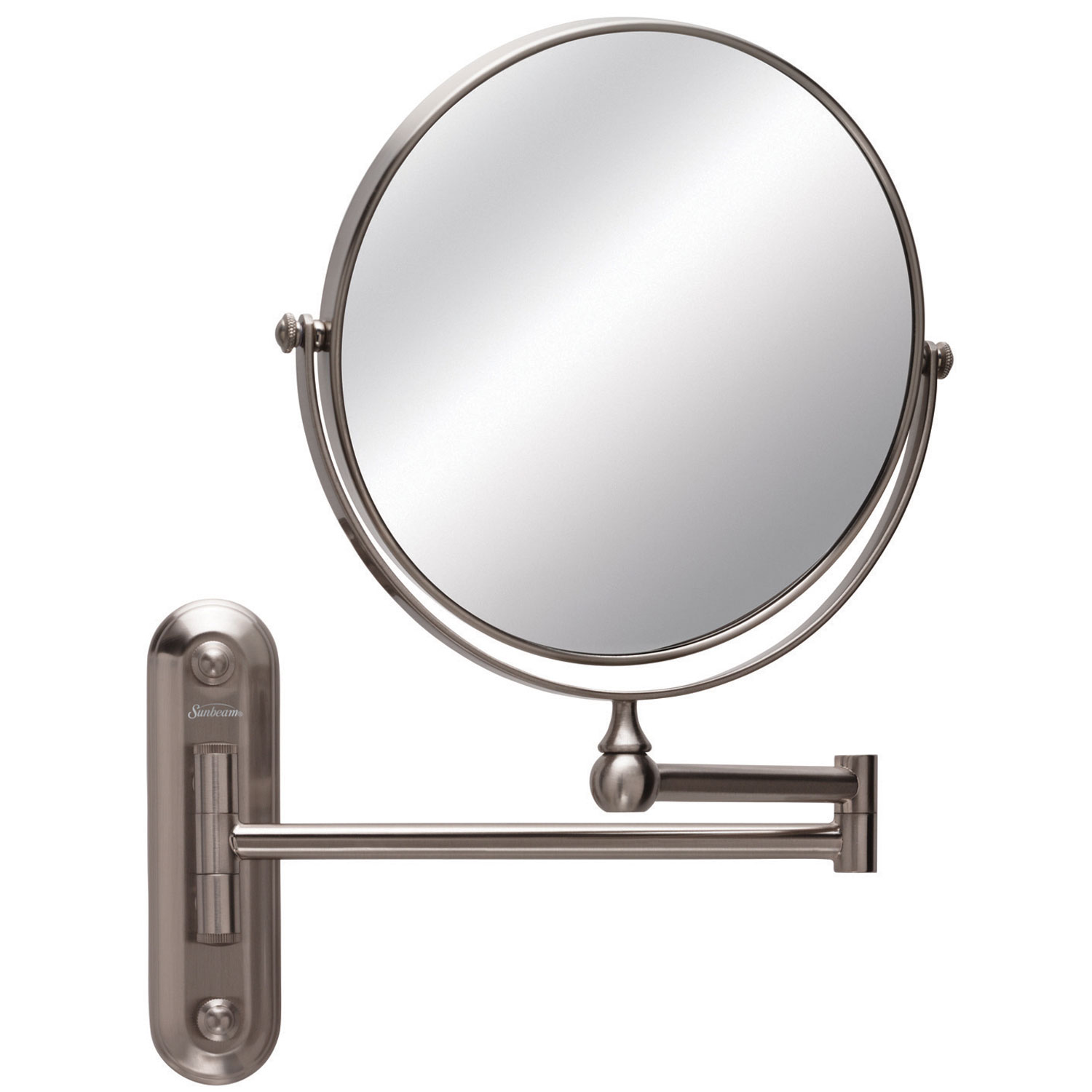 """Wall Mount Mirror sunbeam® 001616 8"""" wall mount mirror 1x-5x magnification brushed"""