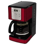 Sunbeam® JWX36RB Mr Coffee® 12 Cup Coffee Maker Pause 'n Serve Red w/ Chrome 2 Per Case Price Per Each