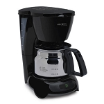 Sunbeam® TF5-080 Mr. Coffee® 4 Cup Coffee Maker Auto Off Pause n Serve Stainless Carafe Black 4 Per Case
