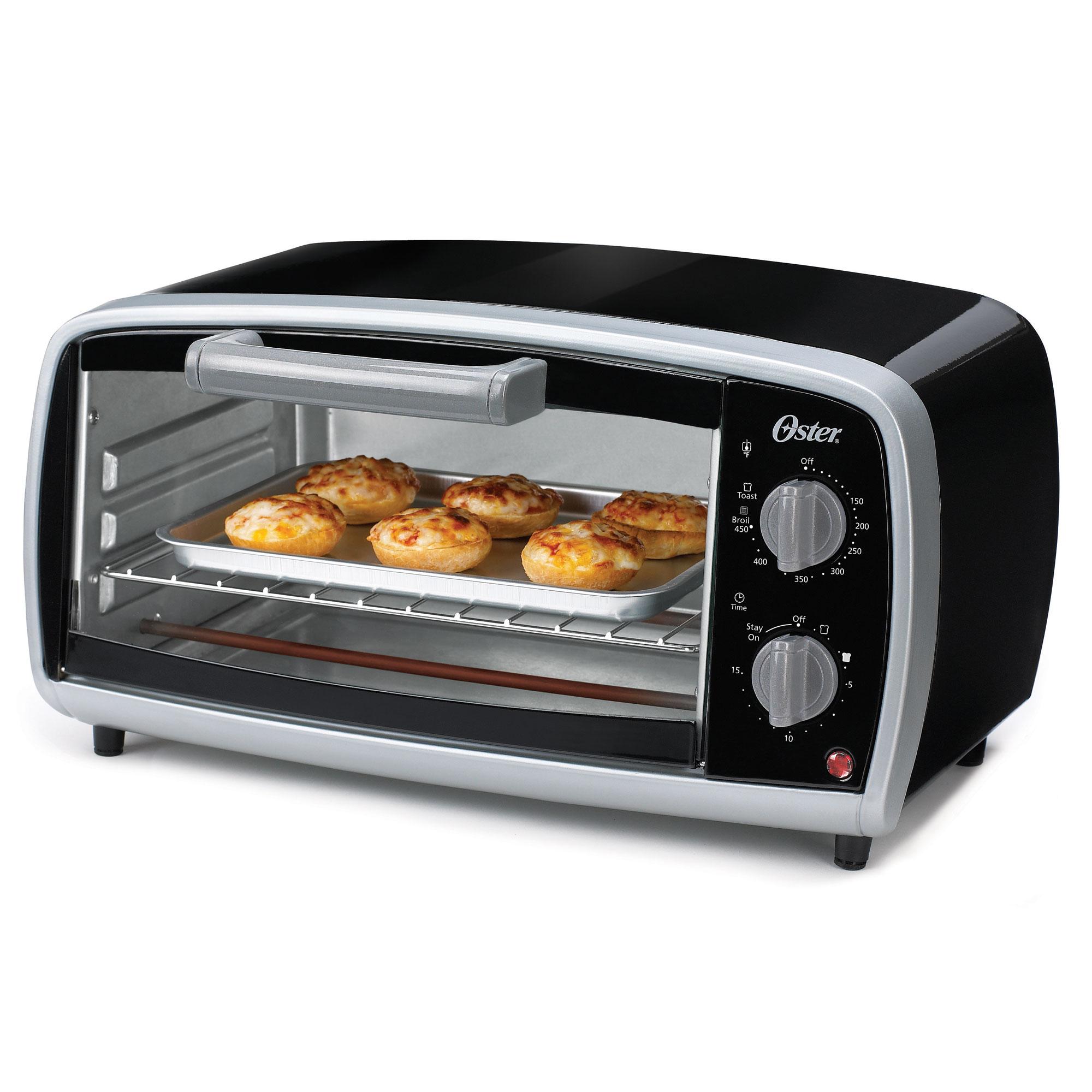 Sunbeam Coffee Maker Kmart : Sunbeam TSSTTVVG01 Oster 4 Slice Toaster Oven Black/Silver