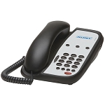 Teledex I Series A103 Analog Single Line Phone w/ 3 Guest Service Keys Flash & Redial Black or Ash 10 Per Case Price Per Each