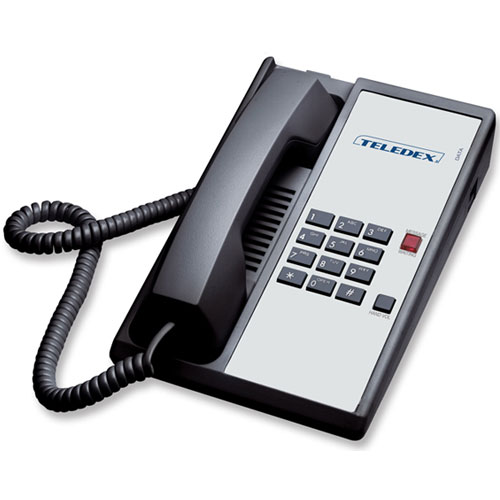 Teledex Diamond Series Analog Single Line Phone Black Or