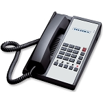 Teledex Diamond+5 Series Analog Single Line Phone w/ 5 Guest Service Keys Black or Ash 10 Per Case Price Per Each