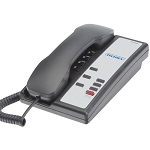 Teledex Nugget 3 Series Analog Single Line Compact Phone w/ 3 Guest Service Keys Black or Ash 10 Per Case Price Per Each