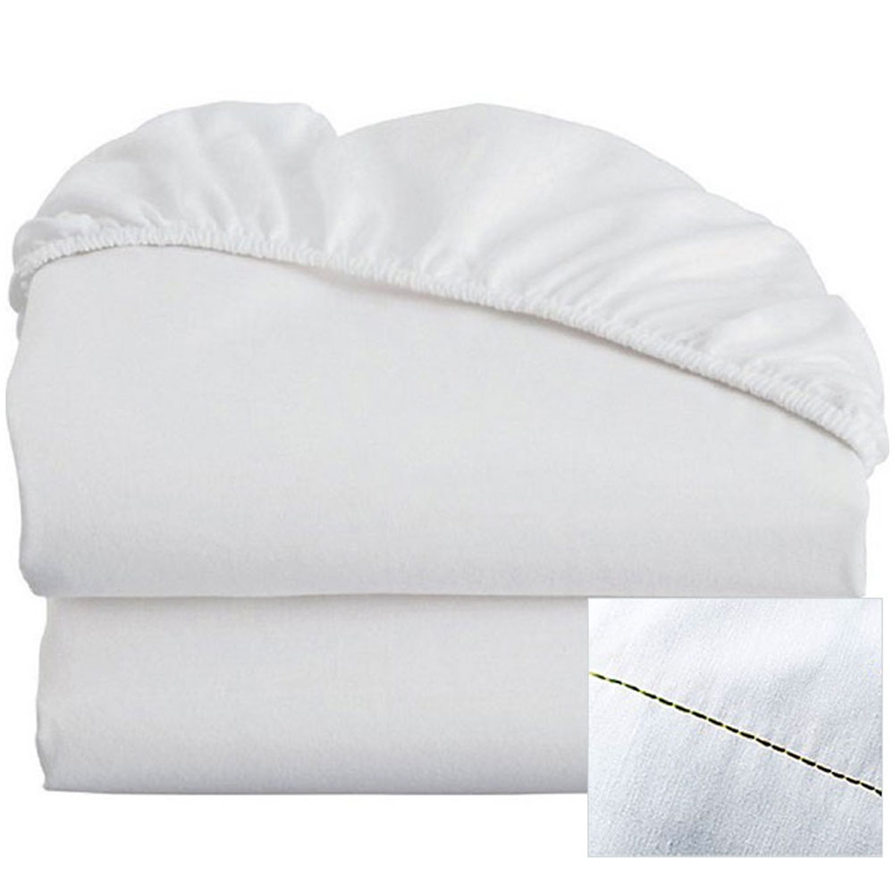 Thomaston Mills T-200 Colored Hem Fitted Sheets w/ Deep Pocket Queen ...
