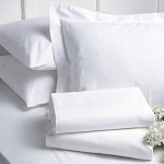Thomaston Mills T-200 Pillow Shams Queen 21x31 White 24 Per Case Price Per Each