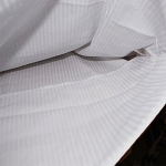 Thomaston Mills T-310 Tone on Tone Stripe Duvet Cover Full 84x94 White 12 Per Case Price Per Each