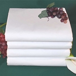 Thomaston Mills T-250 Fitted Sheets w/ Deep Pocket Full XL 54x80x12 60% Cotton 40% Polyester White 2 Dz Per Case Price Per Dz