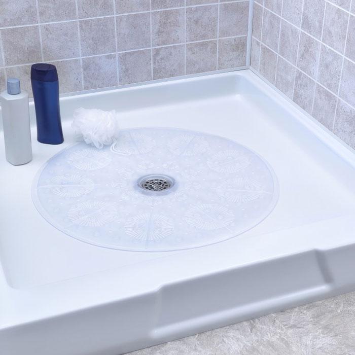 Slip X Round Shower Mat 23 Quot Clear 4 Per Case Price Per Case
