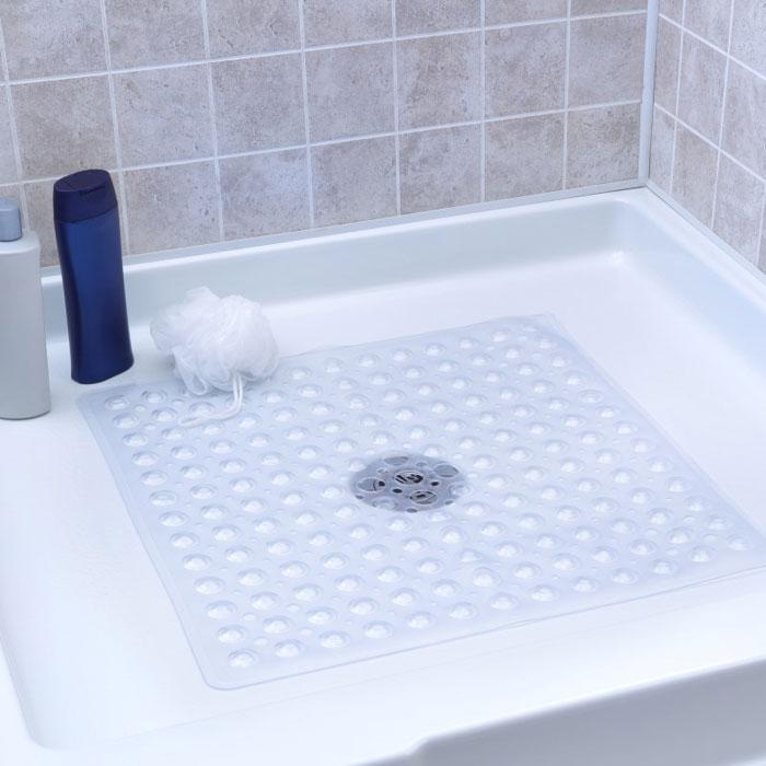 Slip X Square Shower Mat 21x21 Clear 4 Per Case Price Per Case