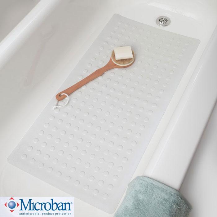 Home U003e SlipX Solutions U003e Safety Rubber Bath Mats With Microban U003e Extra Long  Rubber Safety Bath Mat With Microban U003e Slip X Extra Long Safety Rubber Bath  Mat ...